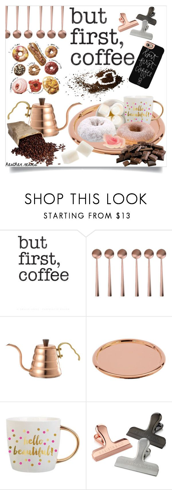 """""""Coffee First"""" by heather-reaves ❤ liked on Polyvore featuring interior, interiors, interior design, home, home decor, interior decorating, Retrò, canvas, Hario and Tom Dixon"""