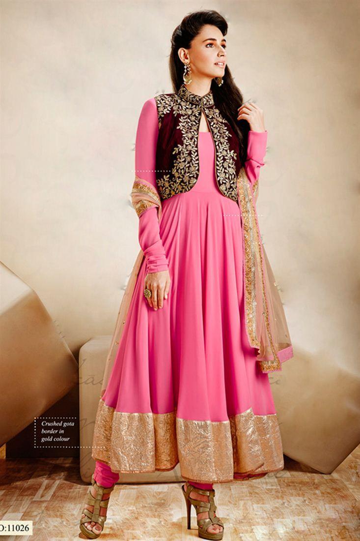 Snugly Art Silk Koti Style Designer Suit Vikram Phadnis Collection
