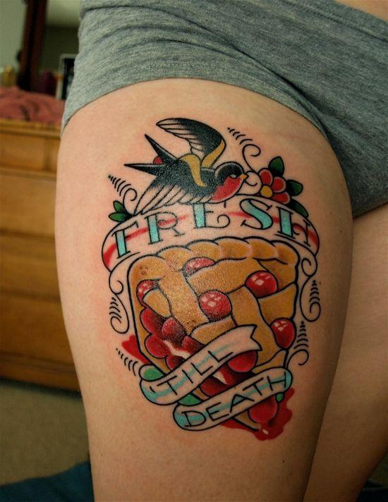 fresh till death #cherry #pie tattoo | tattoo scheming | pinterest