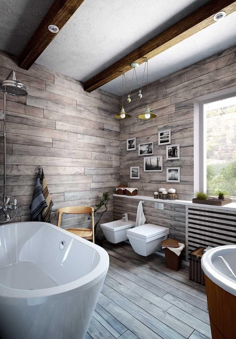 idée déco salle de bain bois- 40 espaces cosy et chics qui en