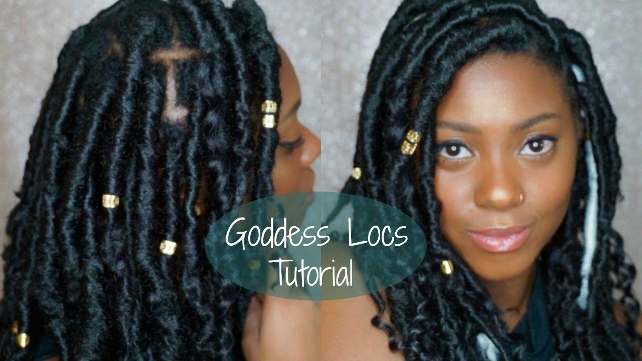 Short Faux Goddess Locs Quick And Easy Tutorial Ashleyeyes