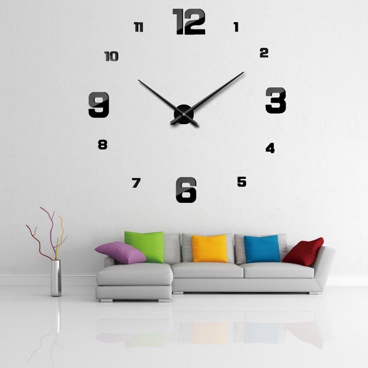 Elegant Modern Moon Shaped Creative Wall Clock Clock Wall Clock
