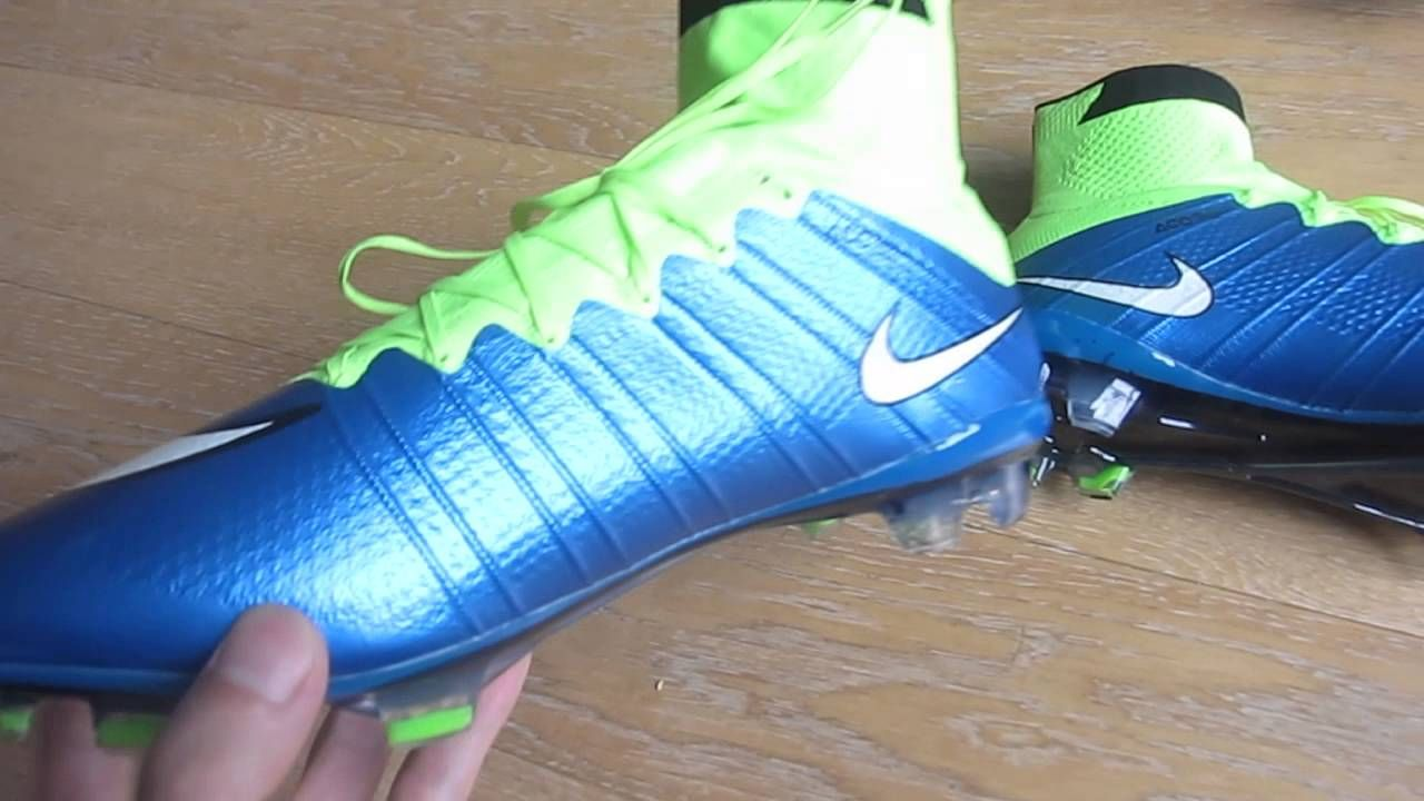 There is New Nike Mercurial Superfly #Firm #Ground #soccer #cleats blue white green soccer shoes carbon fiber.http://goo.gl/tsUAOL