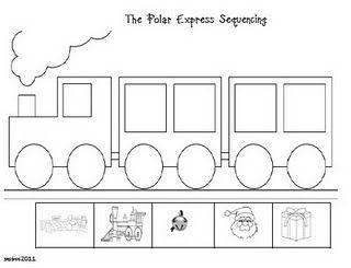 Polar Express Sequencing Msmcbeeskinderbugs Blogspot Com Polar Express Christmas Kindergarten Christmas Classroom