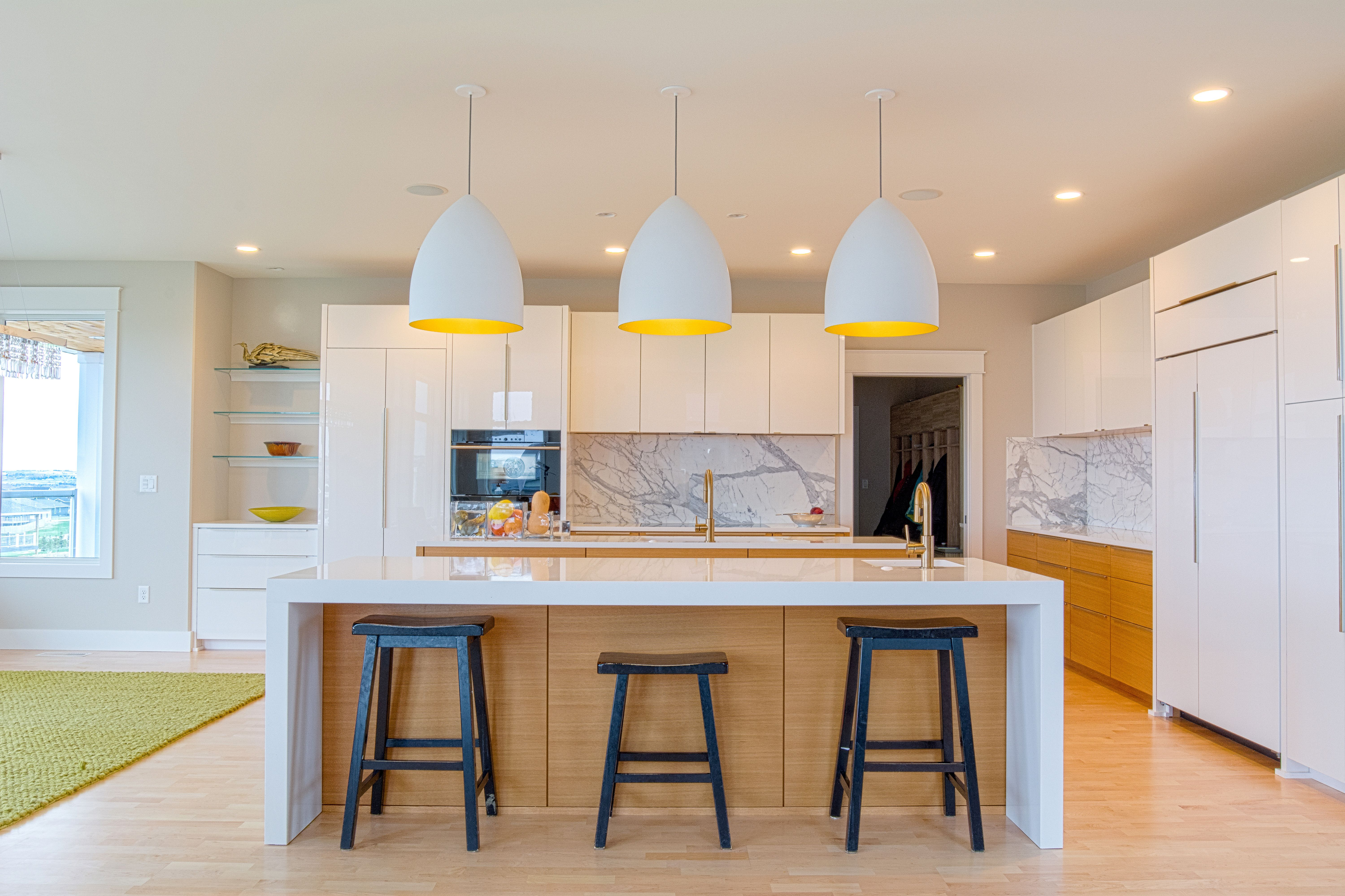 Beautiful Modern Lg Viatera Quartz Countertops In The Color Porcelain White Installed A Local Kitchen For K L Homes Bismarck Nd