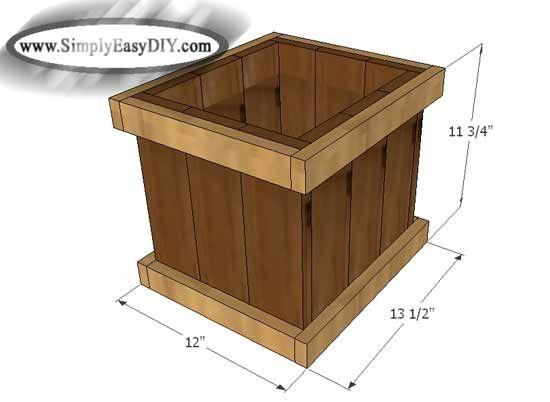 Diy 12 Inch Cedar Garden Planter Box Garden Planter Boxes Planter Boxes Diy Planter Box