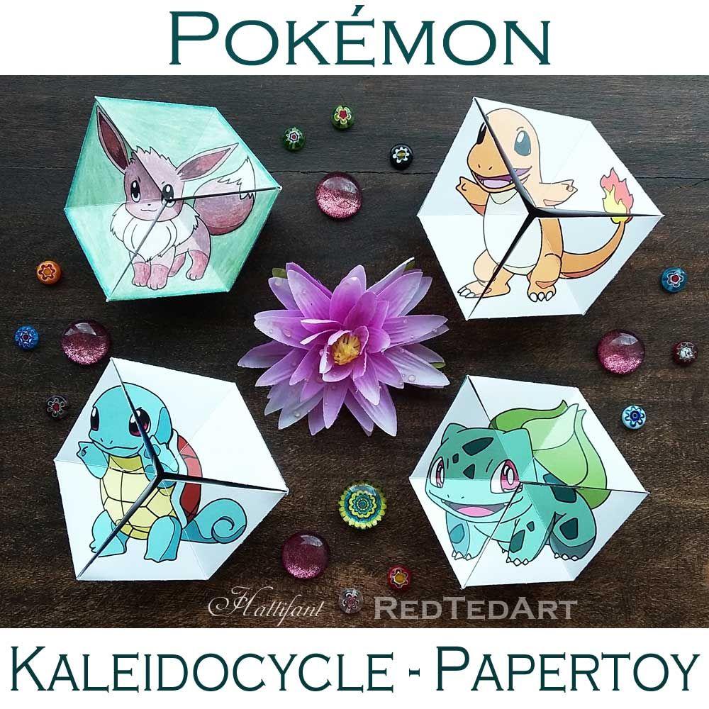 Pokemon Evolution Neverending PAPERTOY Kaleidocycle or