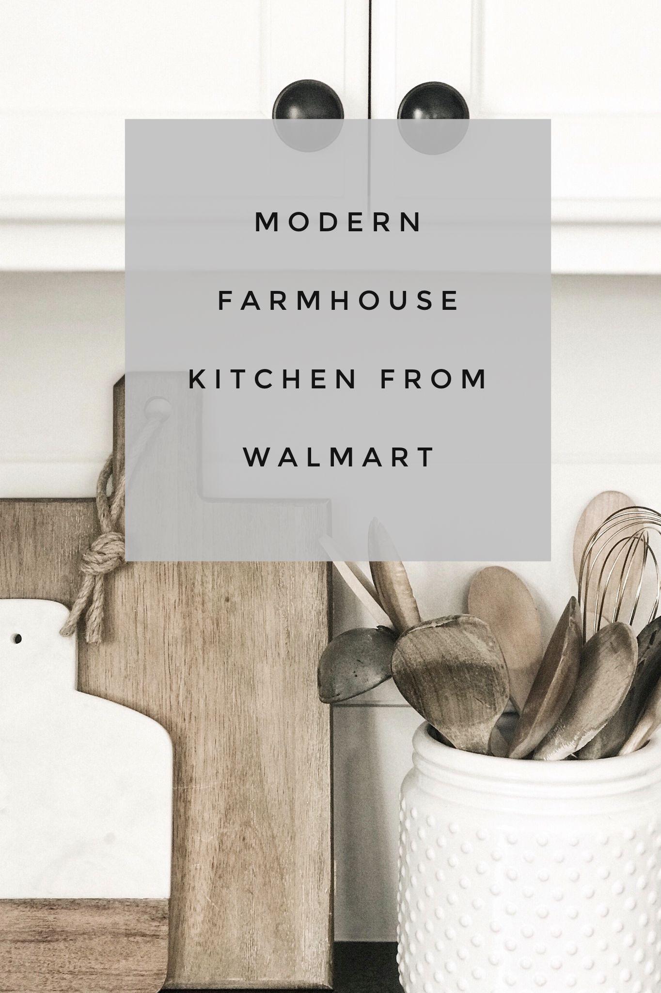 Modern farmhouse kitchen from Walmart!
