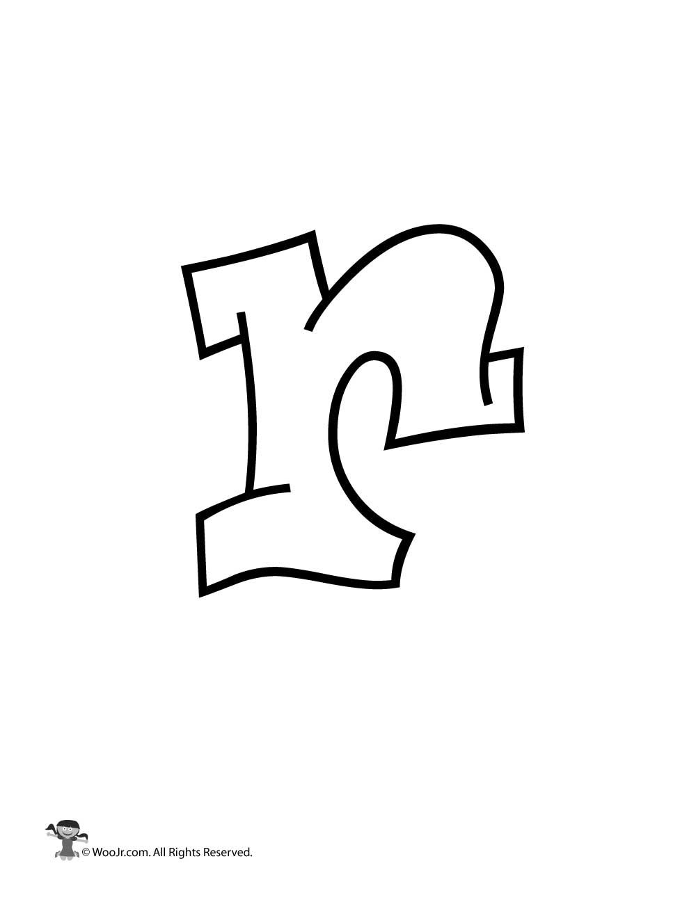 graffiti lowercase letter r woo jr kids activities