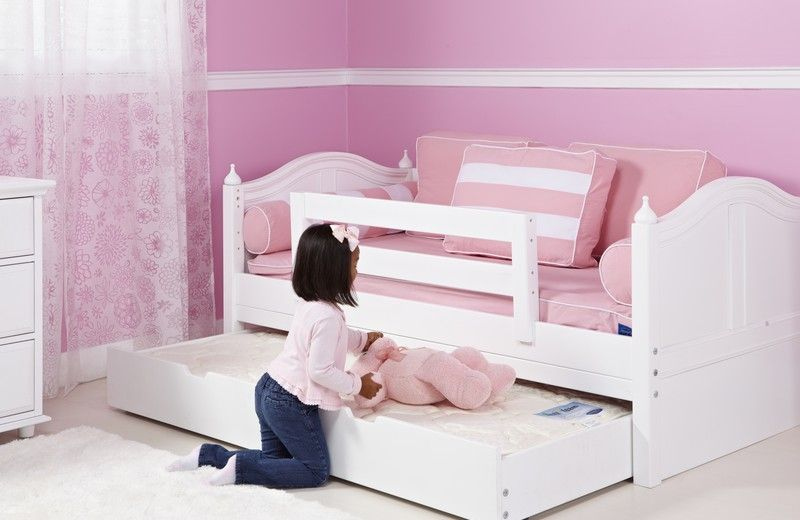 Wonderful Toddler Bed With Trundle Sleepover Time? Add A Trundle Bed That Slides Out  From Underneath The Daybed When You Need It!