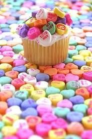 Send a message to your valentine with a heart message cupcake!