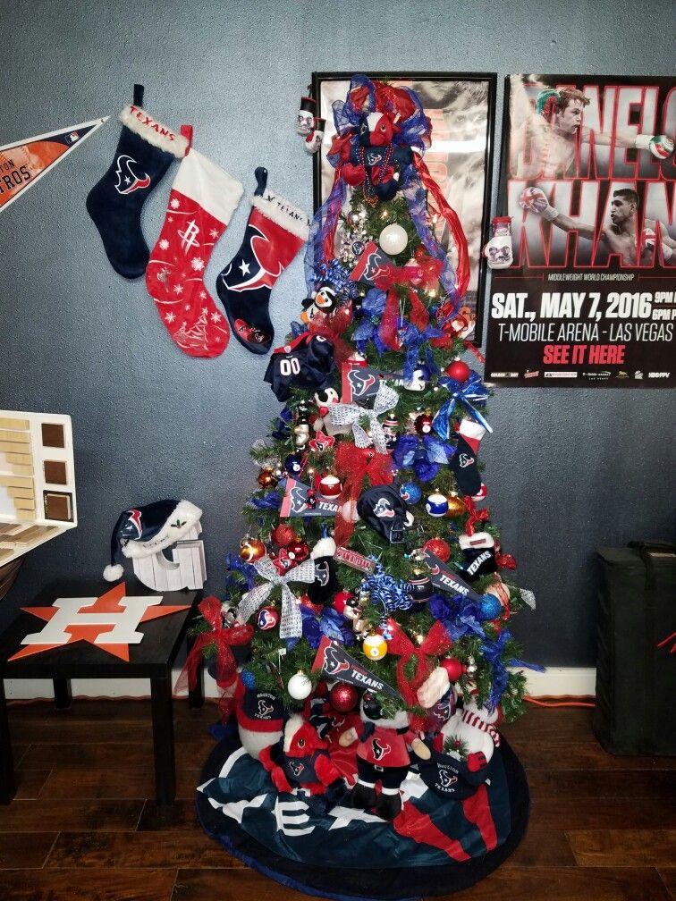 Houston Texans Christmas Tree Holiday Decor Christmas Houston Texans Christmas Decorations