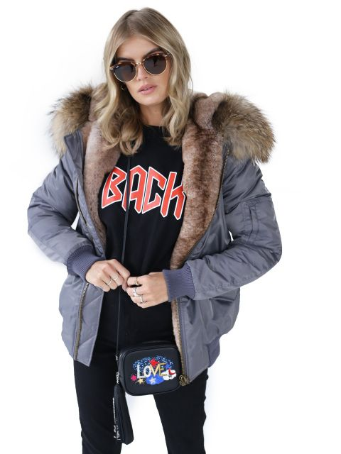 2ff3994ef3ab A firm season s favourite. The classic bomber jacket undergoes a Ducie  luxury makeover. Nylon