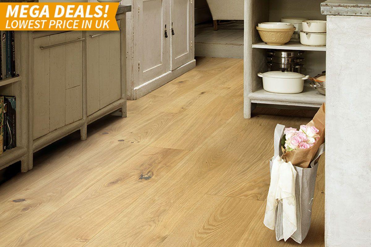 Mega Deal Engineered European Oak Flooring 190mm lacquered