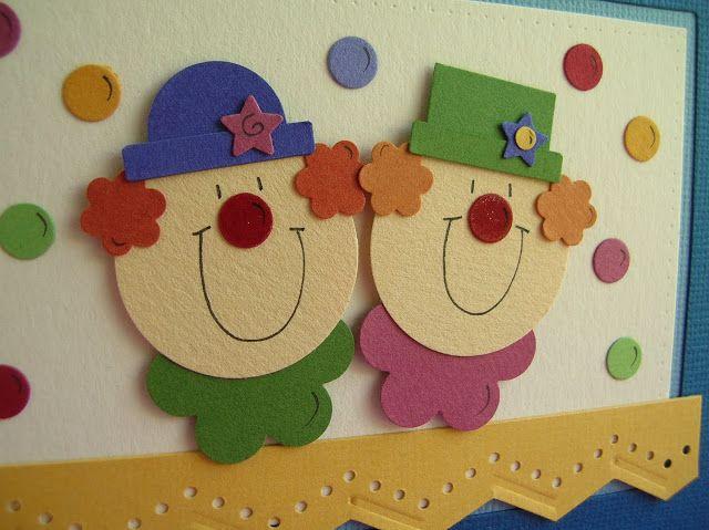 Fun Clowns Punch Art Clown Crafts Punch Art Cards