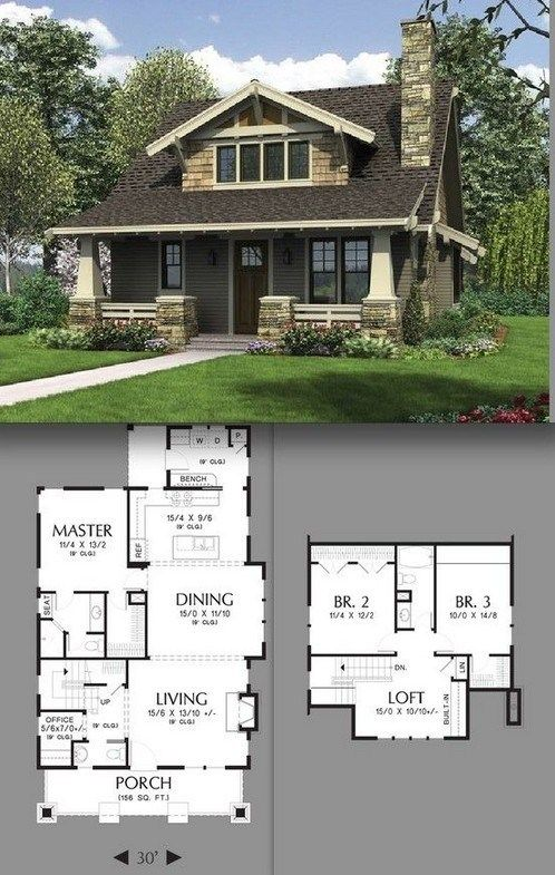 Contemporary Small House With Natural Color Palette And Textures 00035 C45ualwork999 Org Craftsman House Plans Craftsman House Craftsman Cottage