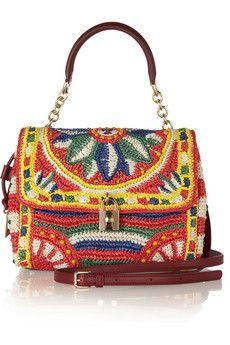 Dolce & Gabbana - Dolce medium woven raffia shoulder bag