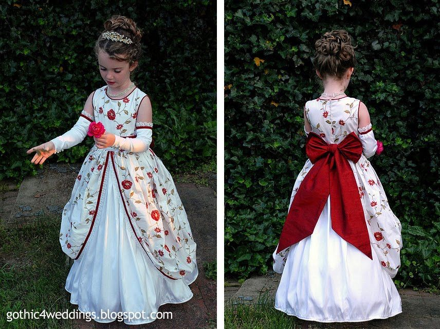 Gothic Wedding Gowns and Victorian Flower Girl Dresses | Handmade ...