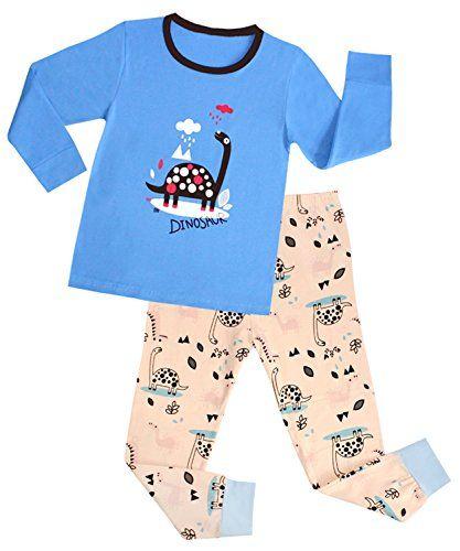 61b4c9cc0 BlcSwan Kids Boy Dinosaur 2 Piece Pajamas Set 100 Cotton 12M2Years ...
