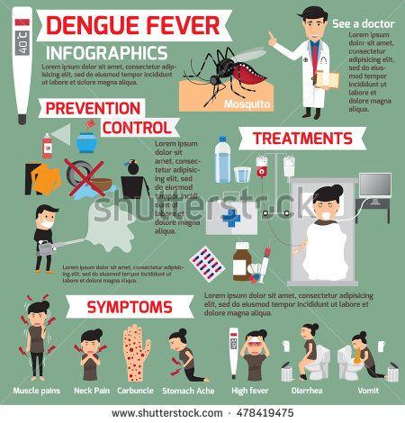 Dengue fever infographics  template design of details dengue