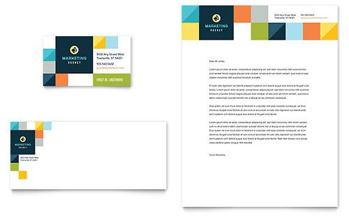 Advertising Company Letterhead - Word Template  Publisher Template