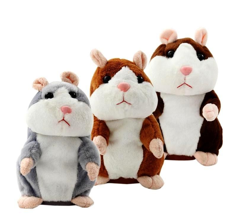 2018 Cute Talking Hamster Nod Mouse Record Chat Mimicry child Plush Toy Gift
