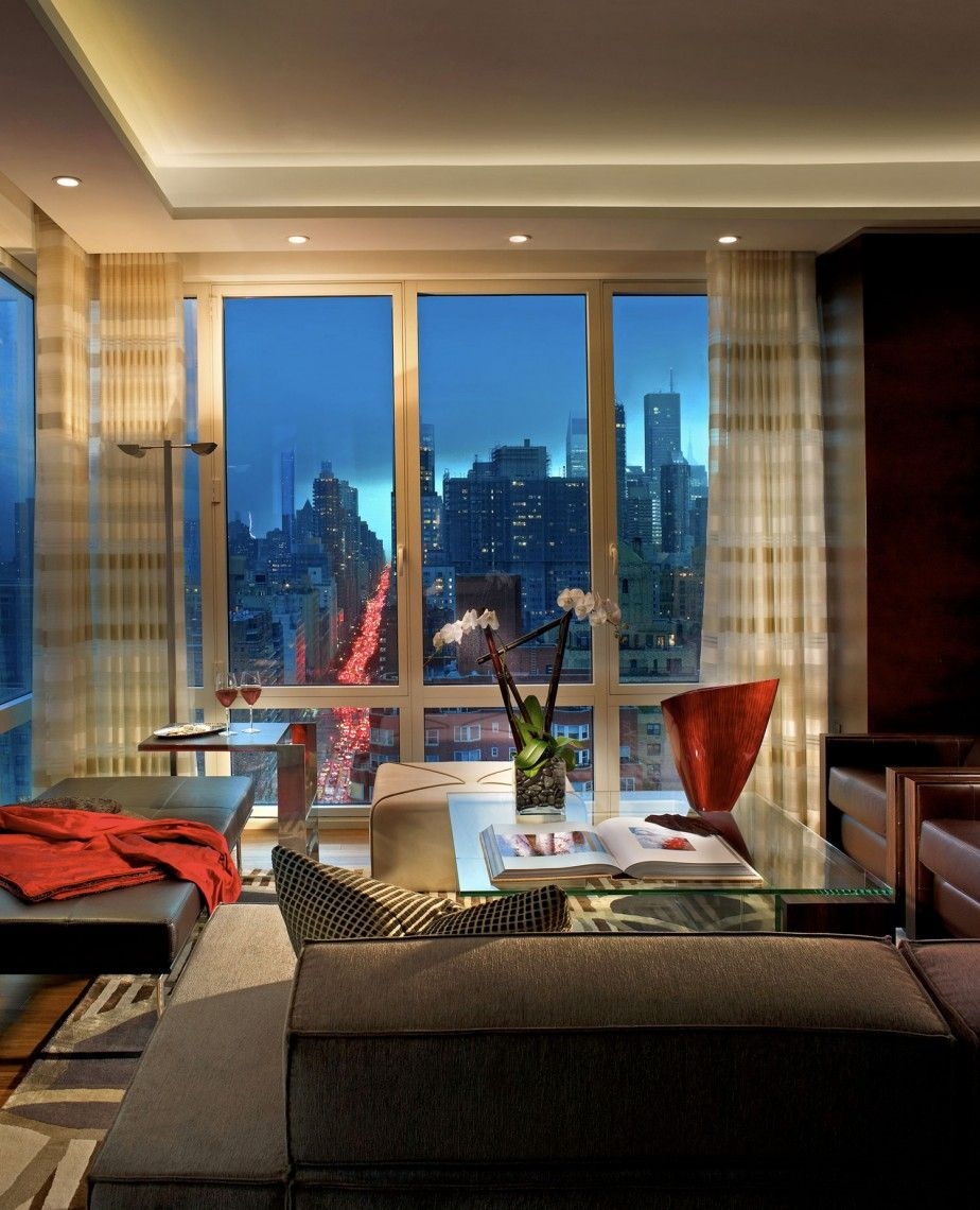 old new york apartments interior. NYC Penthouse by Pepe Calderin Design  Amazing Glass Window Treatment Catching Beautiful New York City View Luxury Penthouses The Big Apple s window installation to a new penthouse Evans Co