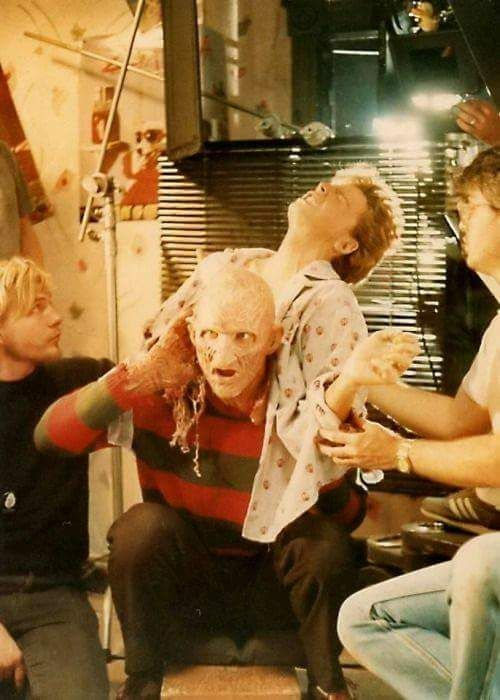 Behind The Scene Photo Of A Nightmare On Elm Street 2 Freddy S