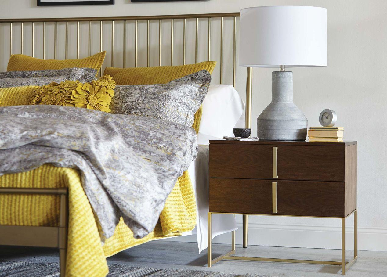 Emmett Metal Platform Bed Minimalist bed, Bed, White
