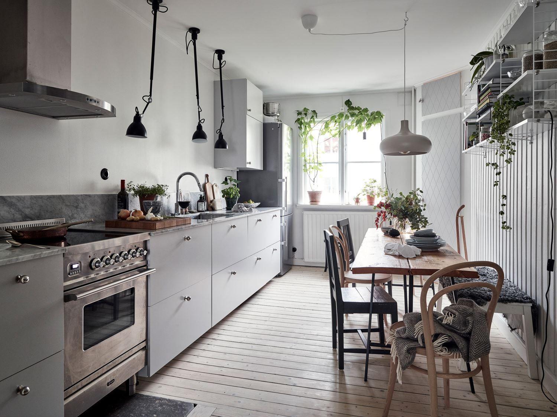 Cucina Nordica Nel 2020 Cucina Svedese Soggiorno Blu Appartamento Accogliente