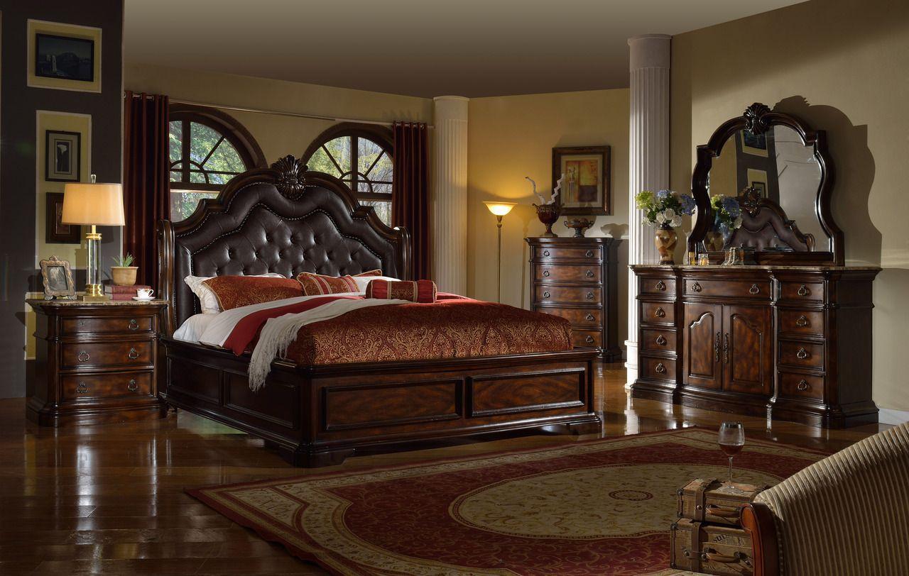 Mcferran Tuscan Collection 5 Piece Bedroom Set Los Angeles