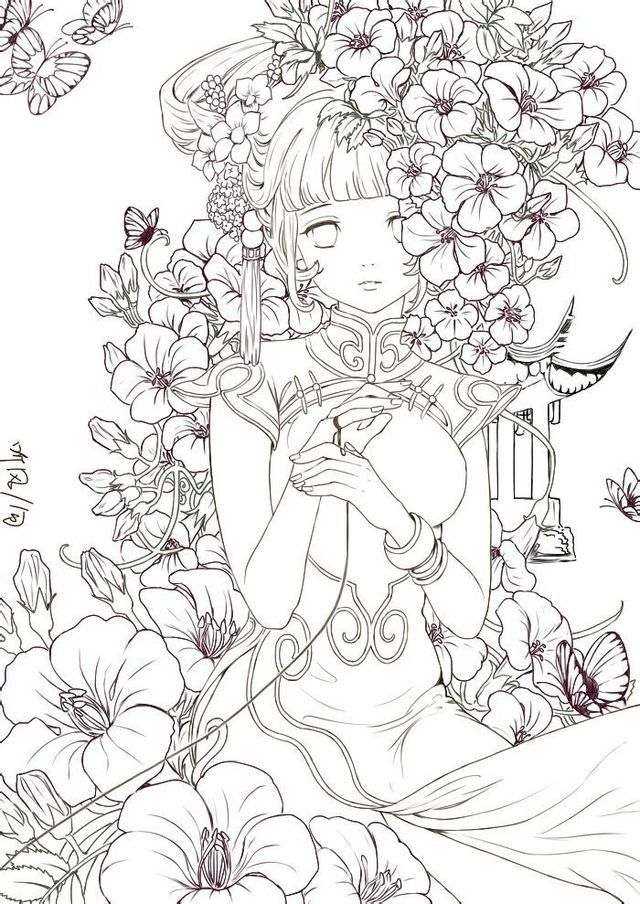 Pin By Minhh Ngọc On Anime Manga Fairy Coloring Pages Coloring Books Coloring Pages