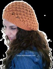 Cómo tejer una boina caida en dos agujas o palitos (knitted slouchy beret  tutorial) 56e72ca5968