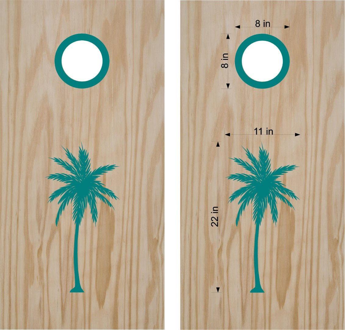 Surprising Palm Tree Cornhole Boards Decals Custom Wedding Cornhole Machost Co Dining Chair Design Ideas Machostcouk