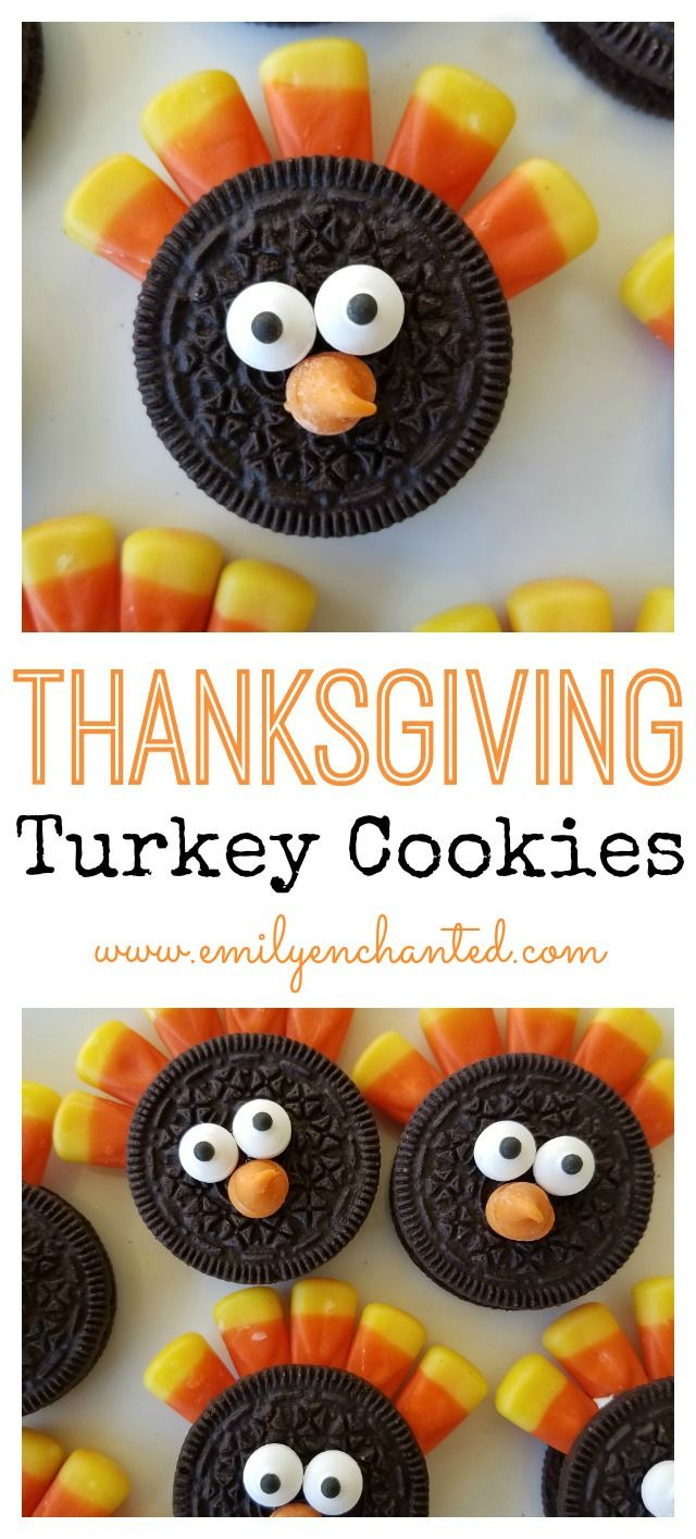 Thanksgiving Oreo Turkey Cookies | Easy Thanksgiving Dessert