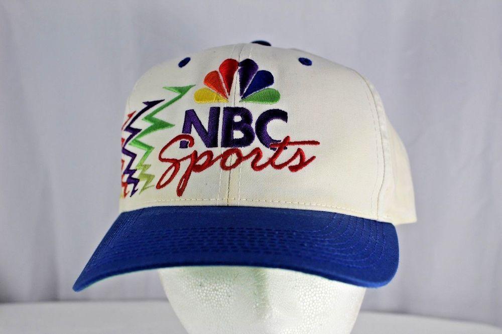 NBC Sports White/Blue Baseball Hat Snapback DADA Rainbow
