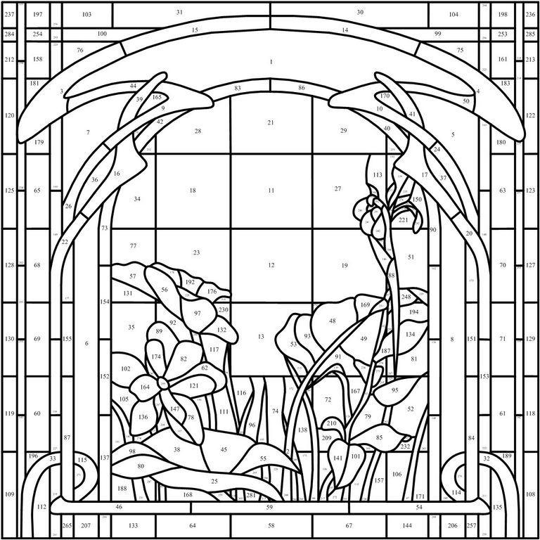 Картинки трафареты витражей на окнах
