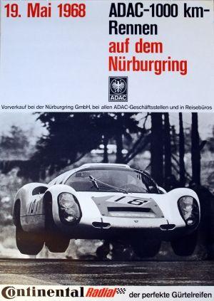 Porsche 1000 Km Nurburgring Vintage Poster On Paper Canvas Art Art Art Posters