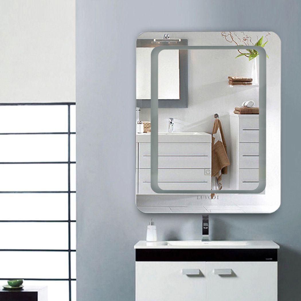 Lichtspiegel Badspiegel Led Badezimmerspiegel Wandspiegel 40x50