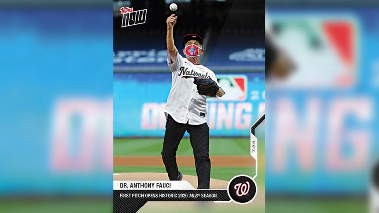 Dr Anthony Fauci S Baseball Card Just Became One Of The Best Selling In Topps History Cnn Baseball Cards Baseball Cards