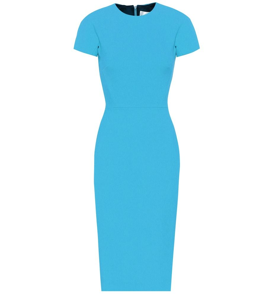 Victoria Beckham Crepe Midi Dress Keep All Eyes On You When Wearing This Vibrant Turquoise Blue Mid Victoria Beckham Victoria Beckham Dress Blue Midi Dress [ 1000 x 885 Pixel ]