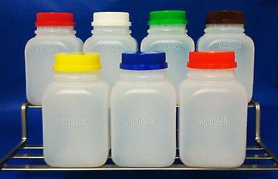 20 8 Oz Hdpe Plastic Juice Bottles Twist Lid Containers