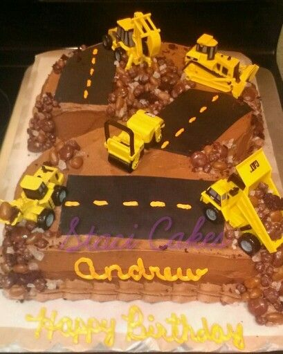 Number 2 Construction Cake