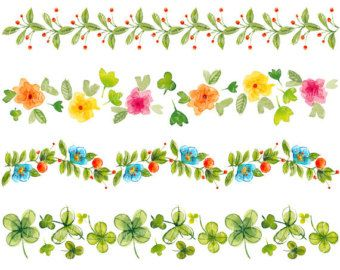 Free Watercolor Floral Border Clipart Google Search Watercolor