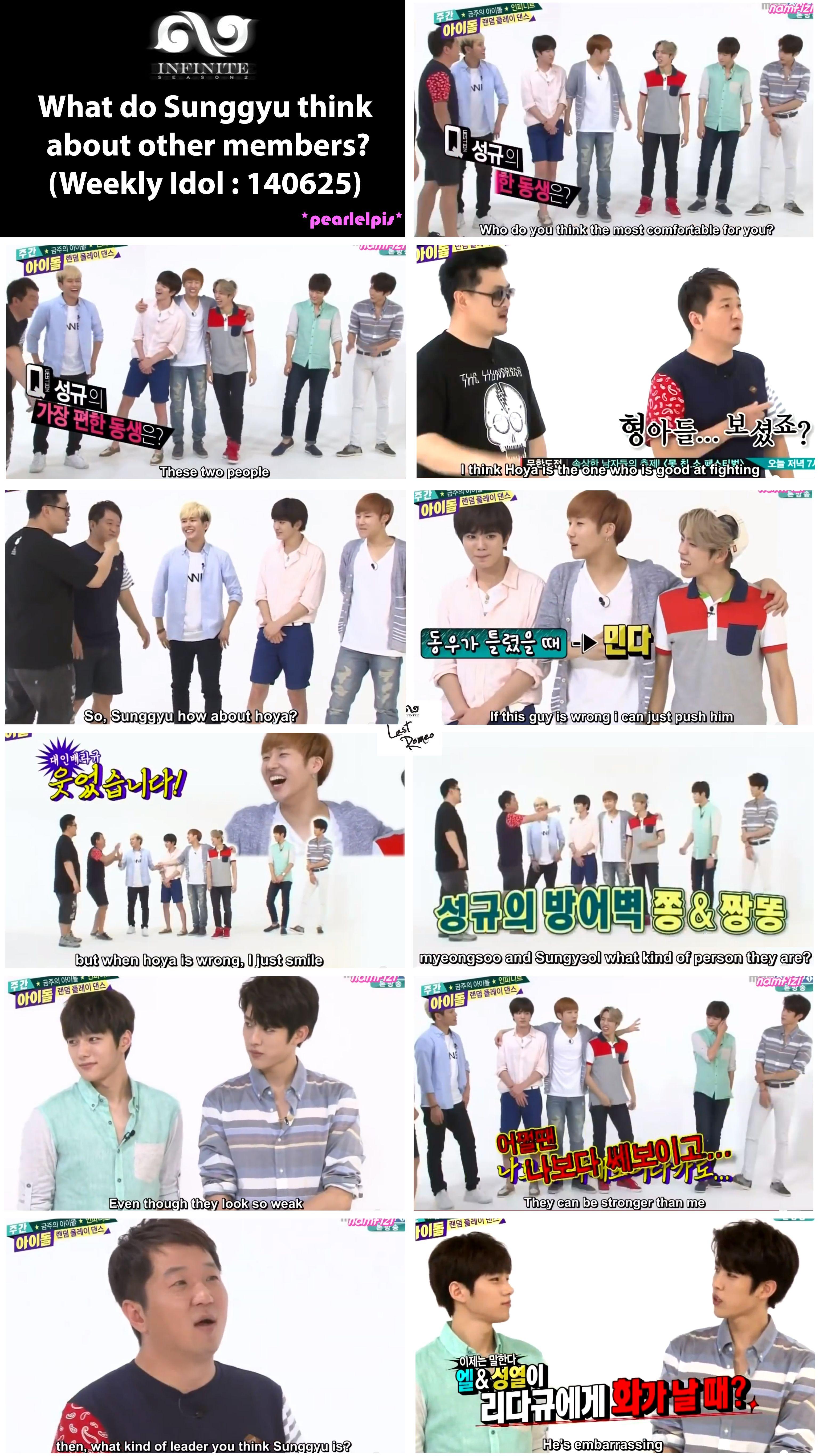 Infinite Weekly Idol 140625 Infinite Members Infinite Weekly Idol