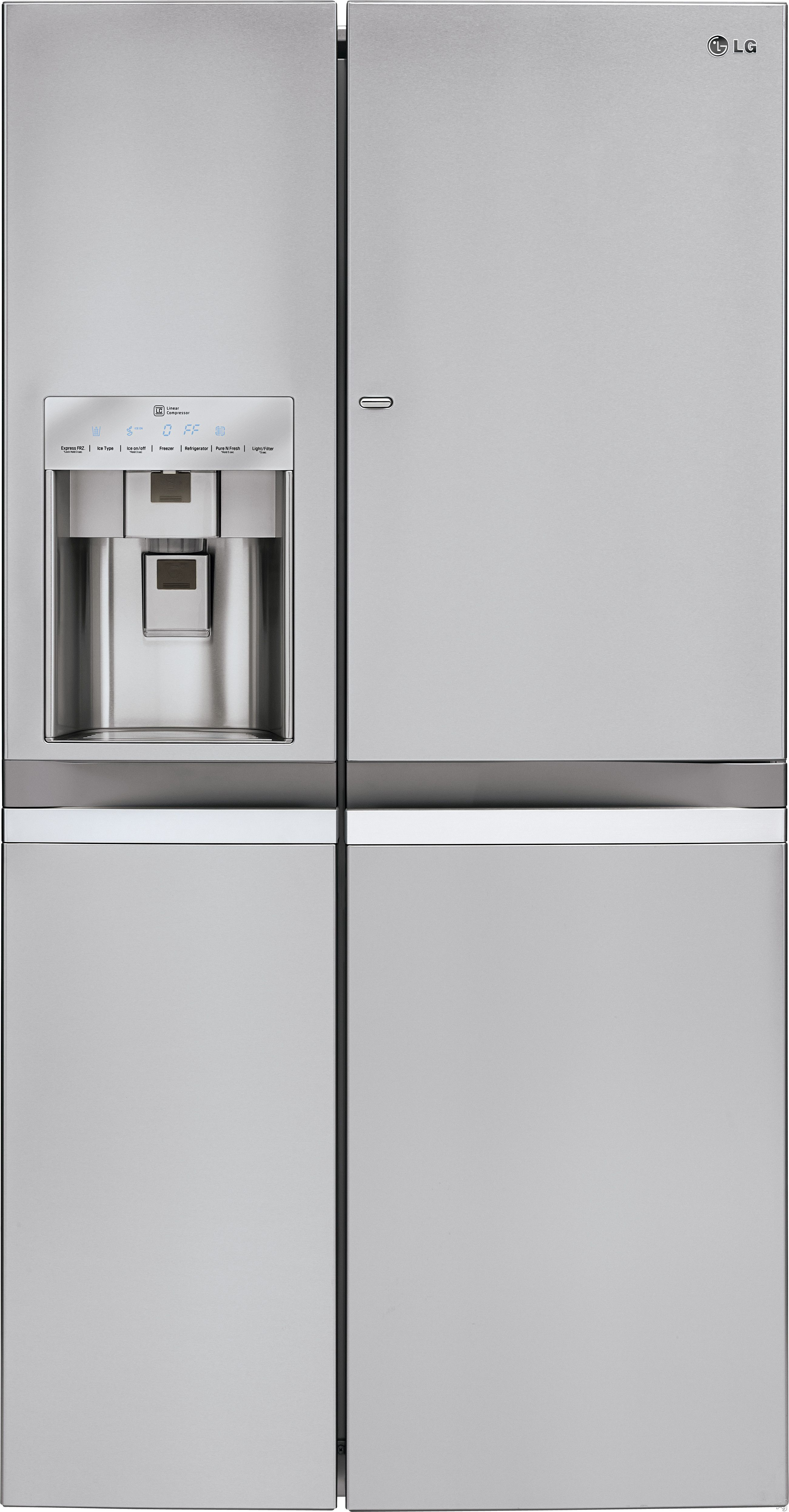 Lg French Door Four Door Refrigerator With Water And Ice Dispenser