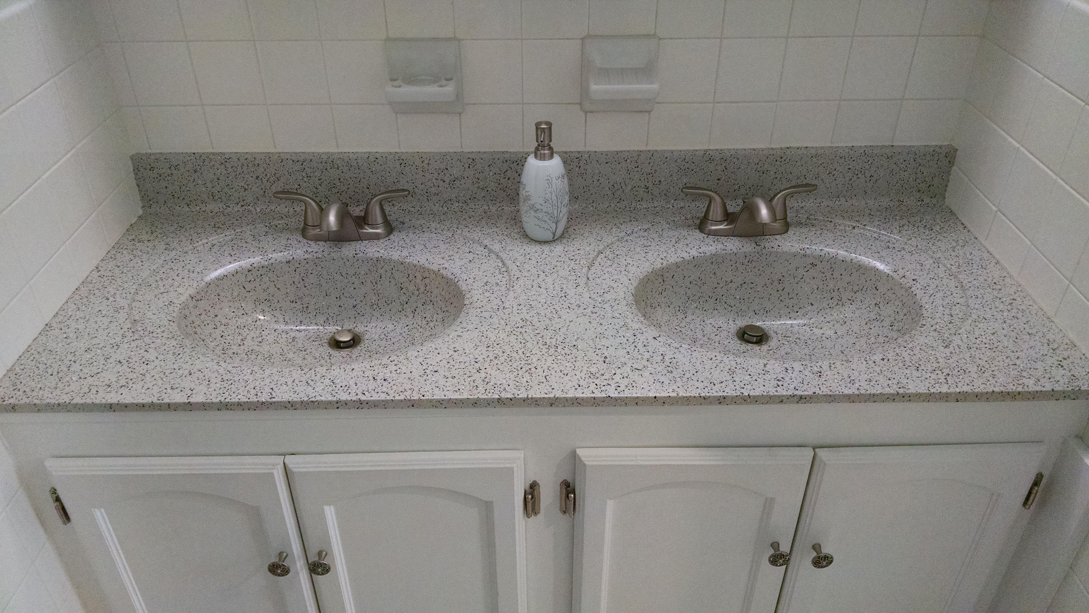 Rocky Road Bathroom Sink Countertop Glaze Moen Spot Resist