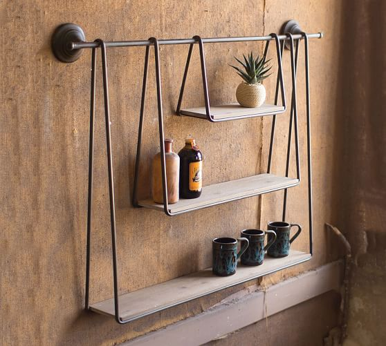 Wall Shelves Floating Shelves Hanging Shelves Pottery Barn Hanging Shelves Diy Hanging Shelves Wood And Metal