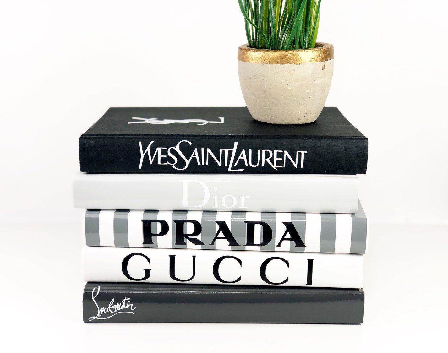 Vanessa Designer Book Set 8 Books Decorative Books Book Decor Chanel Book Decor Book Labels Book Decor