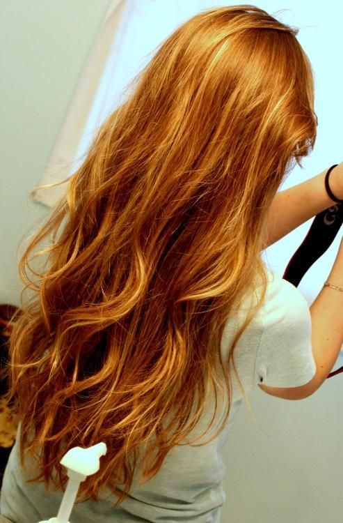 Red Hair With Blonde Highlights Long Hair Styles Hair Styles Remy Human Hair Extensions